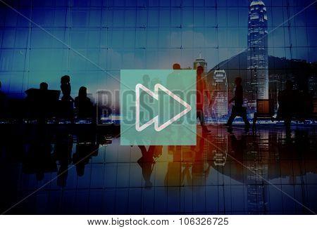 Fast Forward Multimedia Music Audio Concept