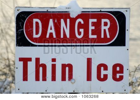 Dünnem Eis