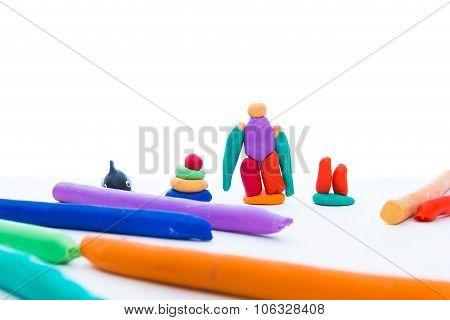 Creative Clay Model, Isolated. Play Dough