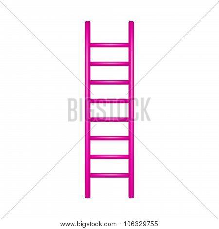Wooden ladder in pink design