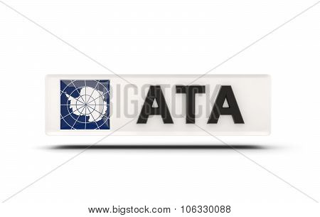 Square Icon With Flag Of Antarctica