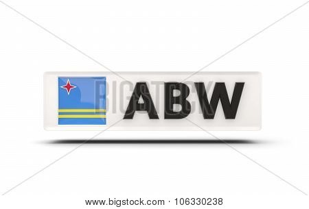 Square Icon With Flag Of Aruba