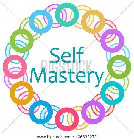 Self Mastery Colorful Rings Circular
