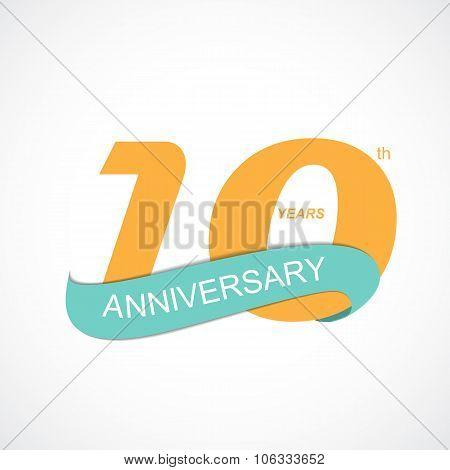 Template Logo 10th Anniversary Vector Illustration