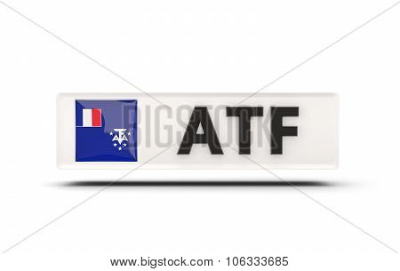 Square Icon With Flag Of French Southern Territories