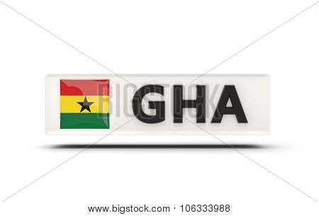 Square Icon With Flag Of Ghana