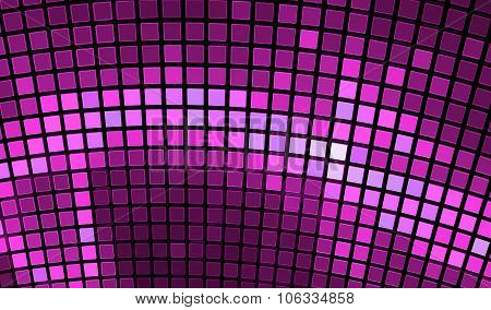 Abstract Mosaic Background. Bright Violet Disco Fractal