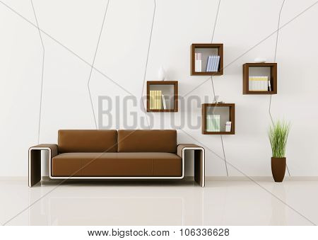 Interior Of Living Room 3D Render