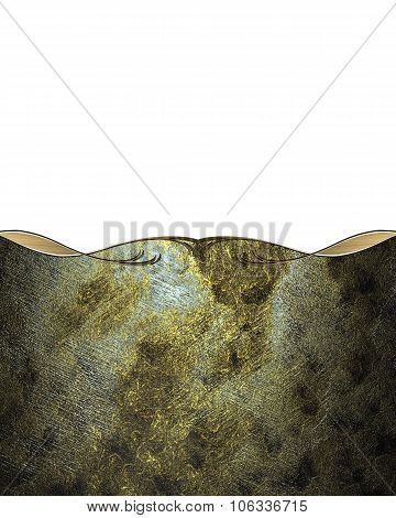 Darkened Old Background With White Cutout And Gold Edge. Element For Design. Template For Design. Co