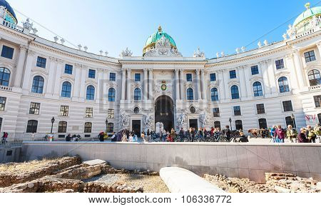 Ancient Roman Outpost On Michaelerplatz In Vienna