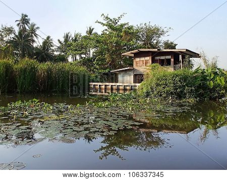 Floating house, Khlong, Bangkok