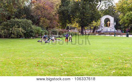 Gymnastics In Stadtpark, Vienna