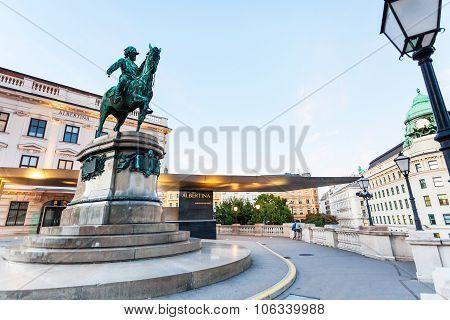 Franz Joseph I Statue Near Albertina Museum Vienna