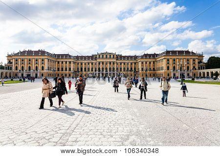 Schloss Schonbrunn Palace From Main Entrance