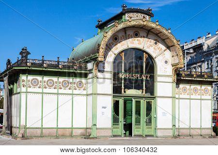 Museum In Otto Wagner Pavilion At Karlsplatz