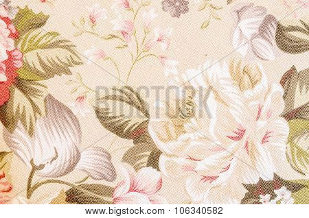 Fragment Of Colorful Retro Tapestry Textile Pattern.