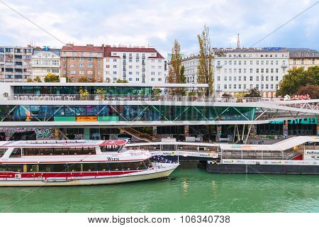 Vienna Danube Channel Cruise Port