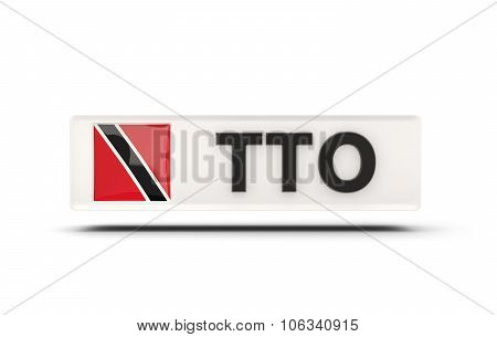 Square Icon With Flag Of Trinidad And Tobago