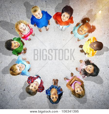 Children Circle Friendship Innocence Preschooler Concept