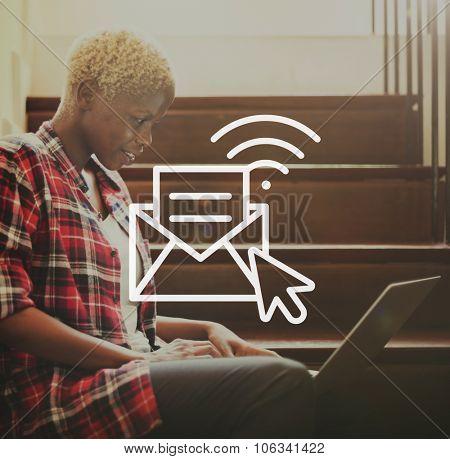 Communication Online Messaging Hotspot Network Concept