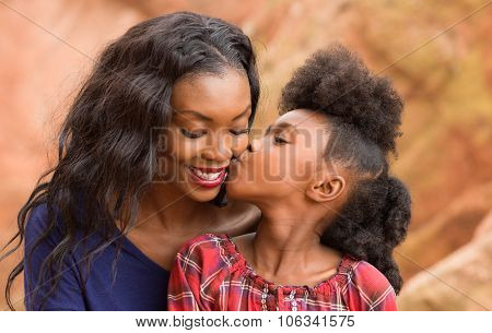 Child Kiss Mother