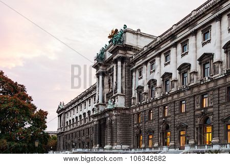 Neue Burg Of Hofburg Palace At Sunrise, Vienna