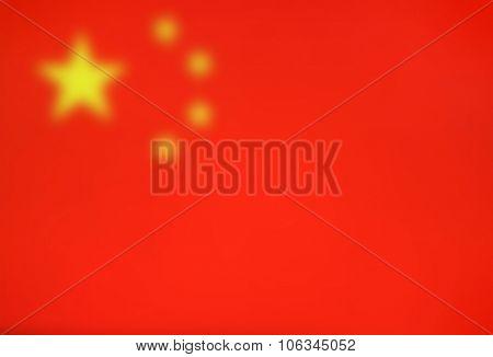 Blurred flag background - Communist China