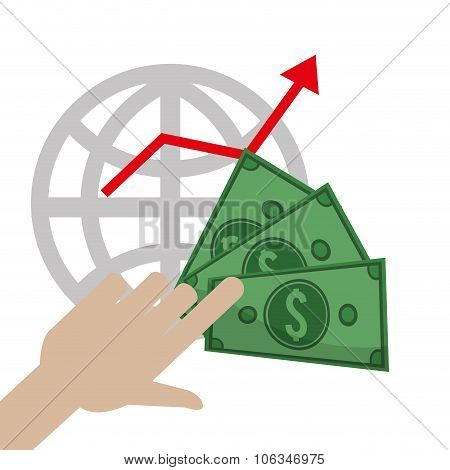 Profit graphics, vector illustration
