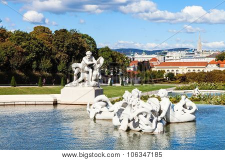 Lower Cascade In Belvedere Garden, Vienna