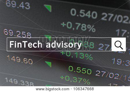 FinTech advisory