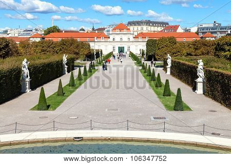 Path In Garden To Lower Belvedere Palace, Vienna