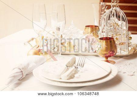 Tableware set for christmas