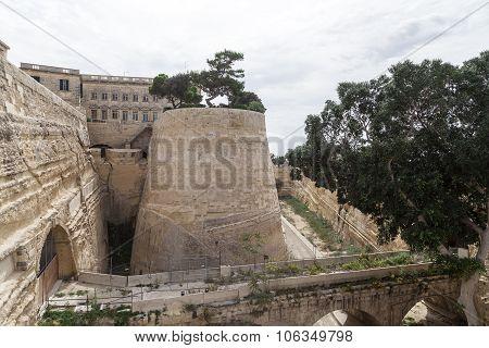 Fort Saint Elmo In Malta Capital - Valletta, Europe