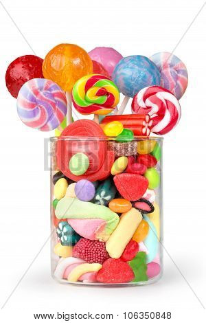 confectionery in glass