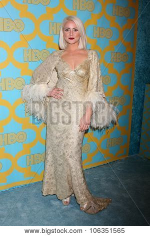 LOS ANGELES - JAN 11:  Katie Welch at the HBO Post Golden Globes Party at a Beverly Hilton on January 11, 2015 in Beverly Hills, CA