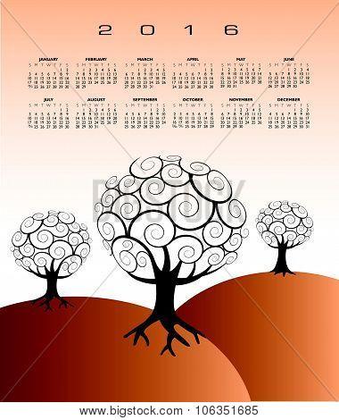 2016 Creative tree calendar