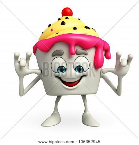 Ice Cream Character Is Teasing Pose