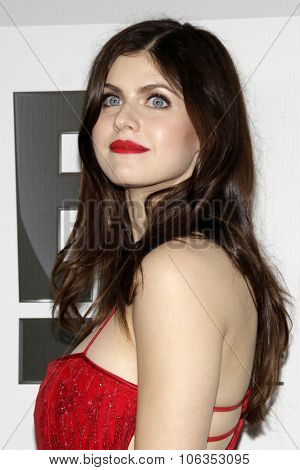 LOS ANGELES - JAN 11:  Alexandra Daddario at the NBC Post Golden Globes Party at a Beverly Hilton on January 11, 2015 in Beverly Hills, CA