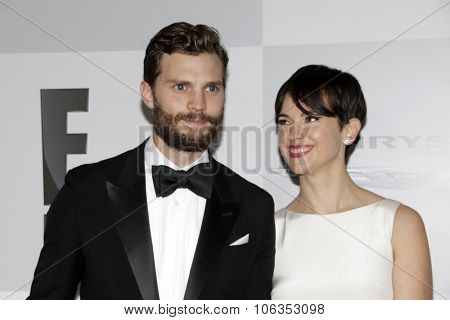 LOS ANGELES - JAN 11:  Jamie Dornan, Amelia Warner at the NBC Post Golden Globes Party at a Beverly Hilton on January 11, 2015 in Beverly Hills, CA