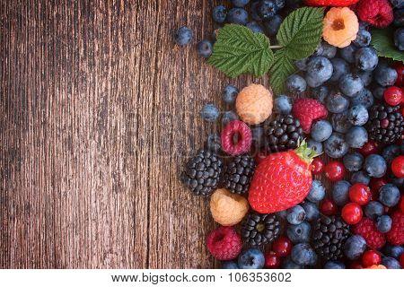 background of fresh berries
