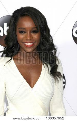 LOS ANGELES - JAN 14:  Aja Naomi King at the ABC TCA Winter 2015 at a The Langham Huntington Hotel on January 14, 2015 in Pasadena, CA