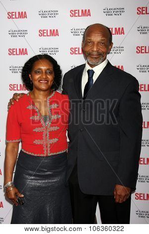 SANTA BARBARA - DEC 6:  Naila Sanders, Henry G. Sanders at the