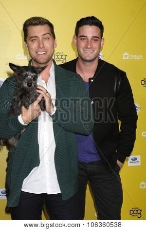 LOS ANGELES - JAN 10:  Lance Bass, Lily, Michael Turchin at the CW Network presents