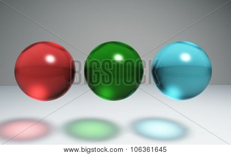 Geometric Crystal Ball Red Green Blue