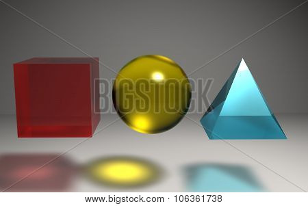 Geometric Shape Crystal Background