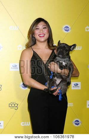 LOS ANGELES - JAN 10:  Jenna Ushkowitz, Bear at the CW Network presents