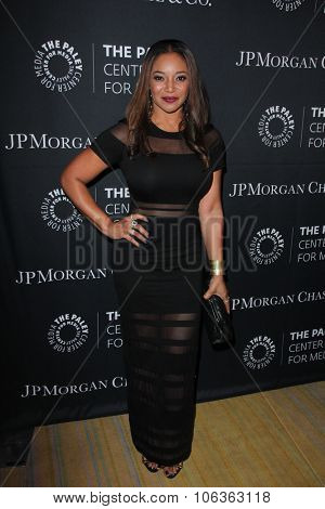 LOS ANGELES - OCT 26:  Tamala Jones at the Paley Center's Hollywood Tribute to African-Americans in TV at the Beverly Wilshire Hotel on October 26, 2015 in Beverly Hills, CA
