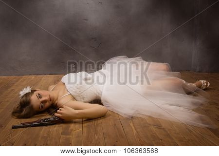 Bride Corpse With Pistol  In Hand