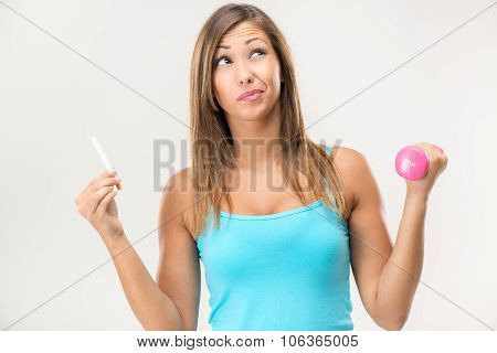 Woman Smoking Or Health