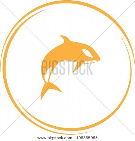 killer whale. Internet button. Vector icon.